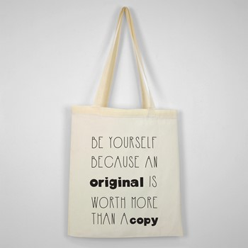 Bombažna vrečka Be yourself because an original is worth more than a copy 02